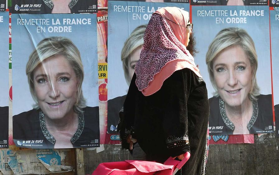 Marine Le Pen election posters.