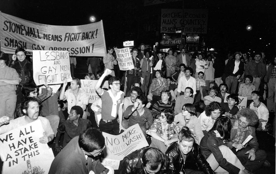 Harvey Milk murder demonstration in NYC