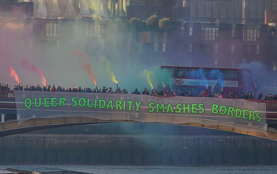 LGBTQ solidarity protest