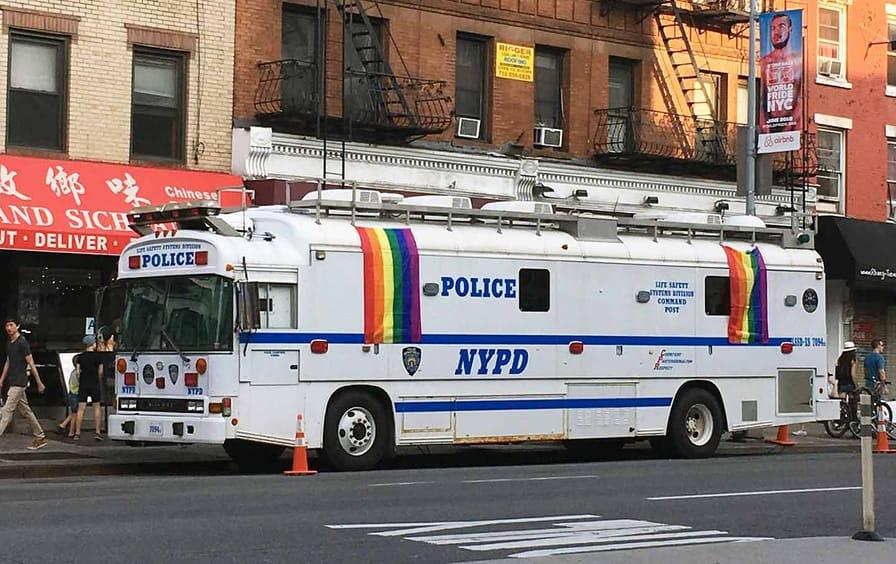NYPD gay pride van