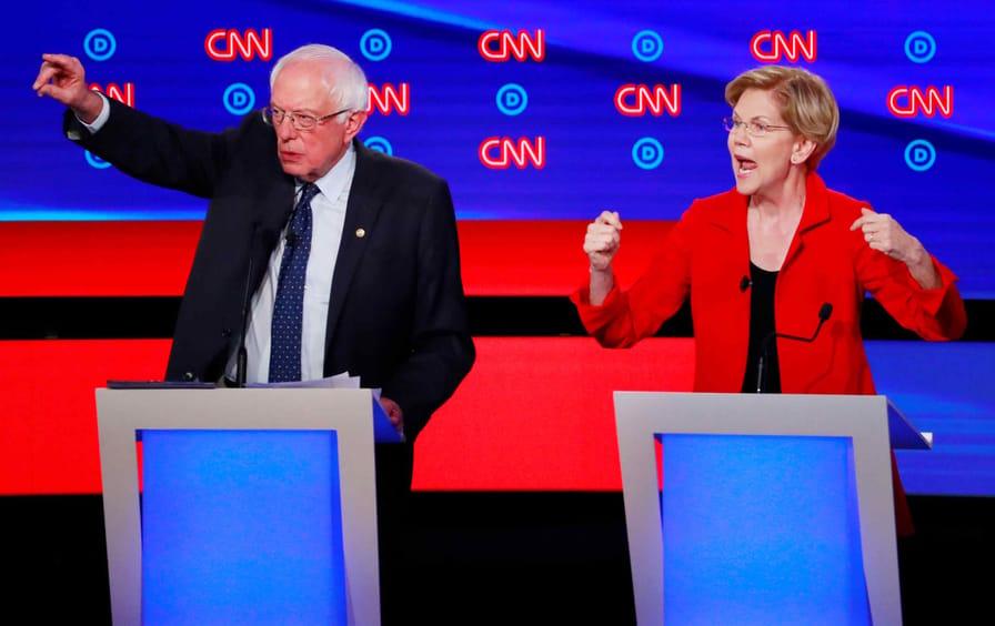 Senators Elizabeth Warren and Bernie Sanders