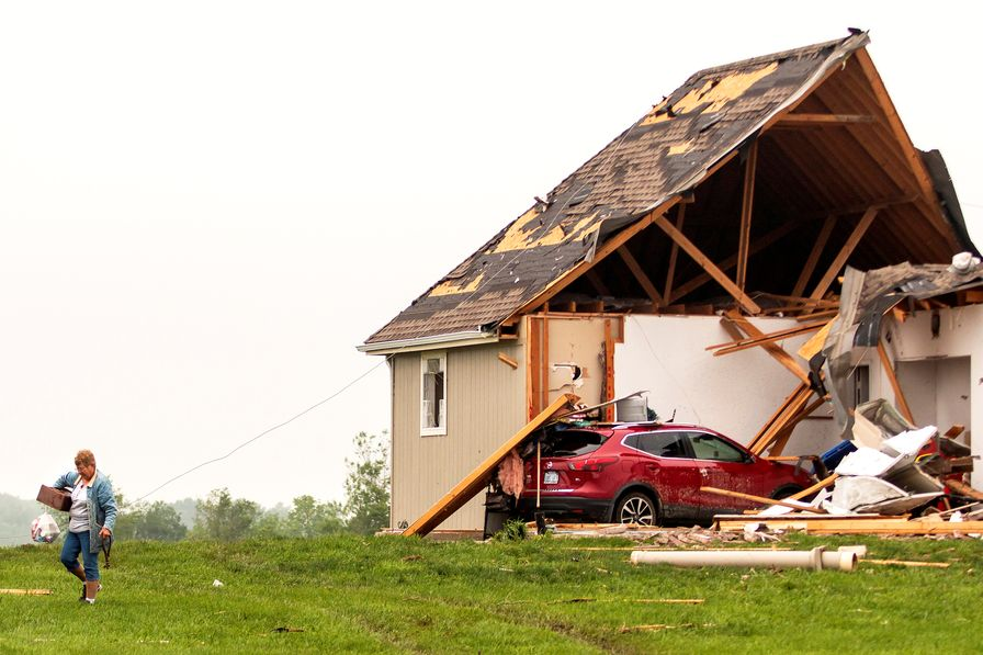 Destroyed House Climate Change