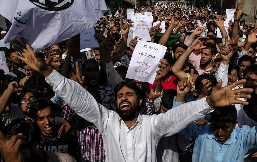 Kashmir Sinagar Pakistan Protests