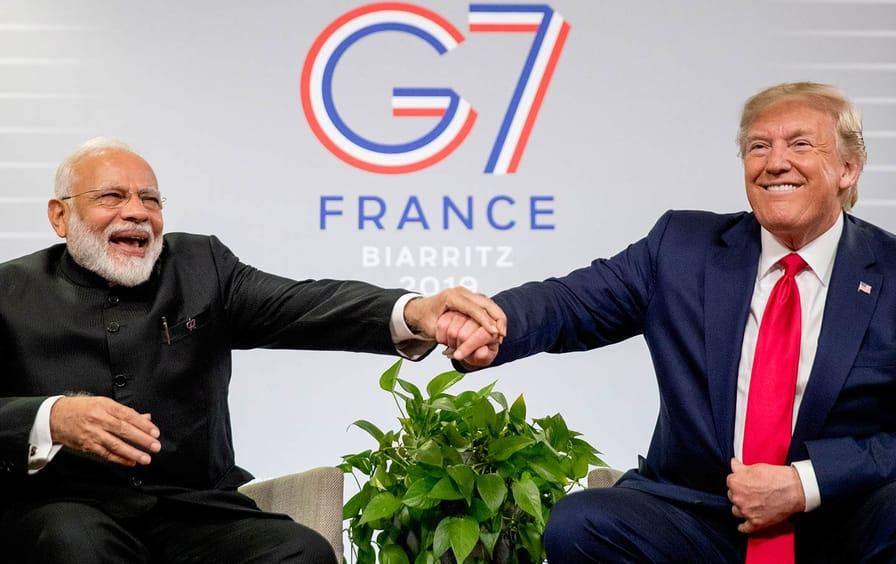 Modi Trump G-7