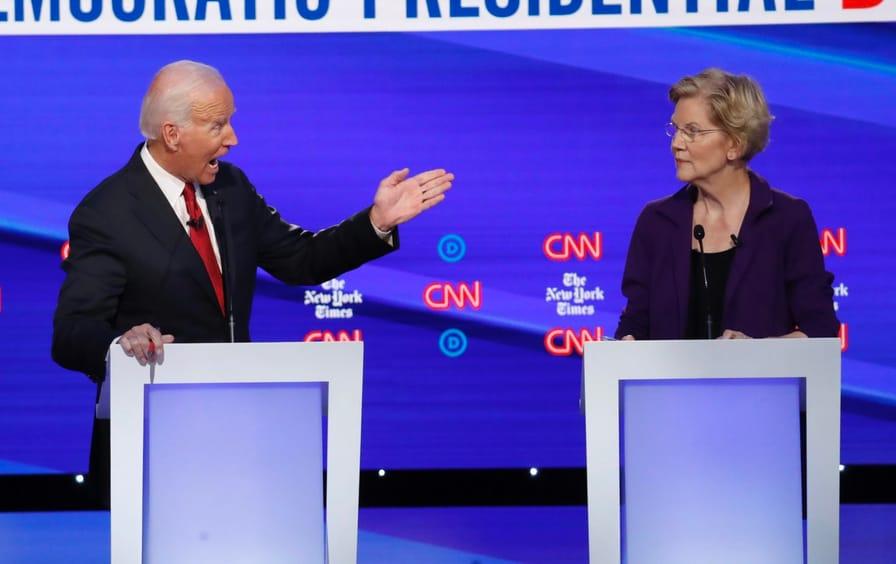 warren and biden debate