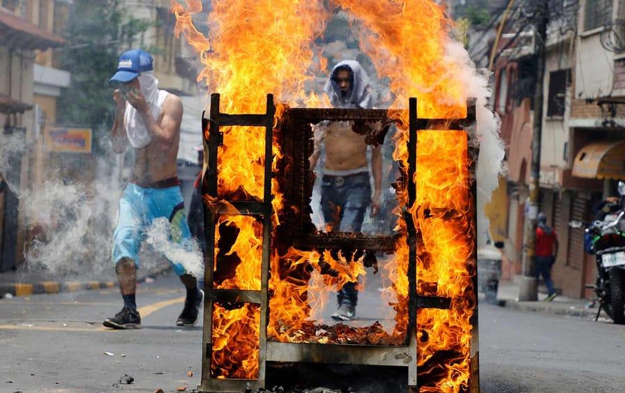 Honduras Protest Hernandez Resign