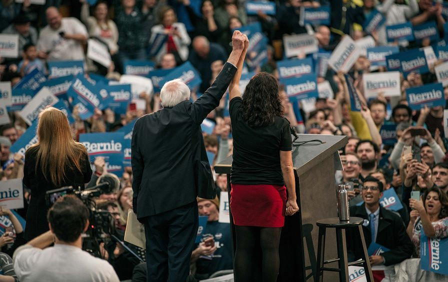 Bernie Sanders Holds Campaign Rally In Detroit With Rep. Rashida Tlaib