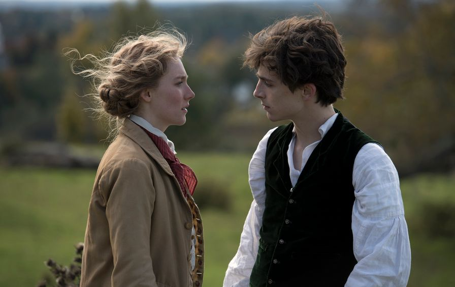 Saoirse Ronan and Timothée Chalamet in Columbia Pictures' LITTLE WOMEN.