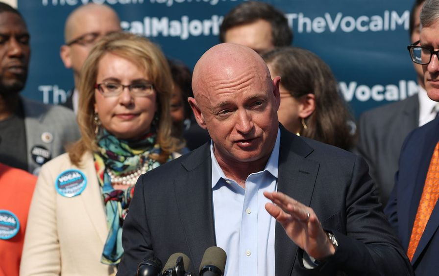 Former U.S. Congresswoman Gabby Giffords and husband Mike Kelly