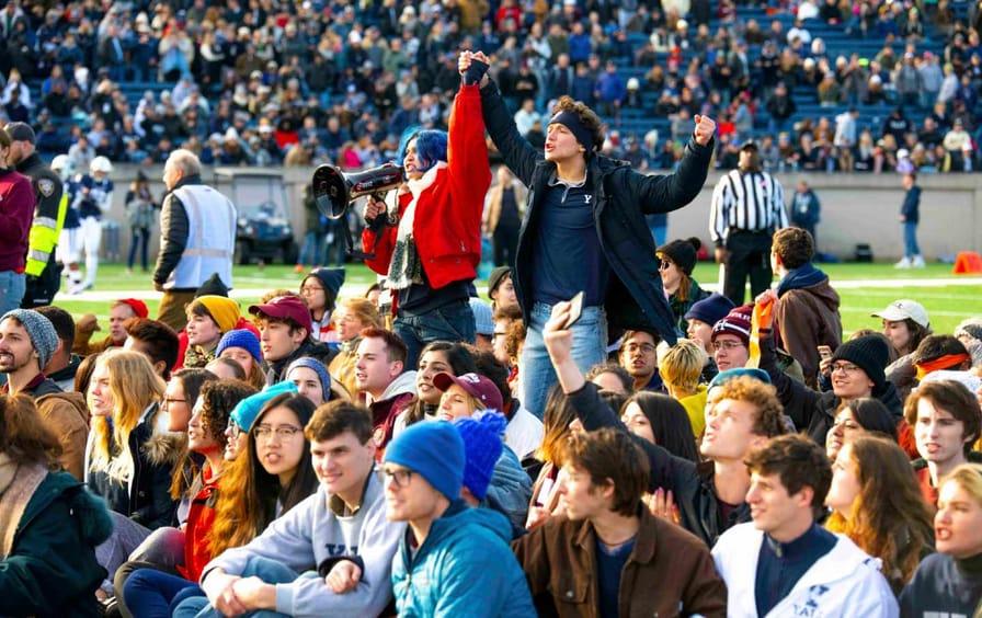 Harvard v Yale Football Protest