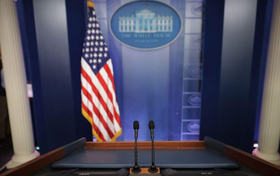 White house lectern