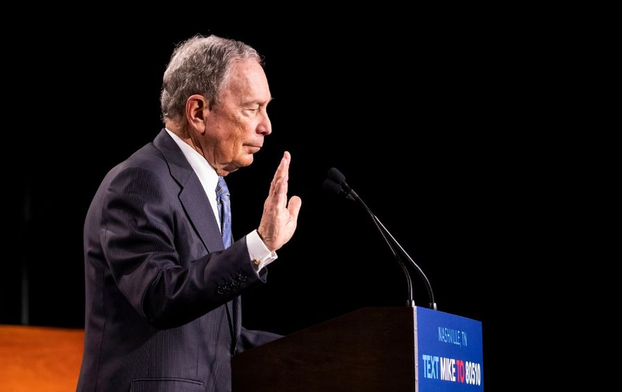 Michael Bloomberg speaks at a campaign rally