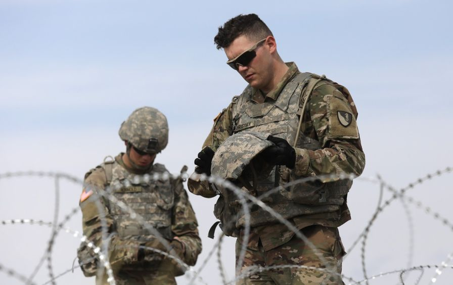 US Army soldiers at US-Mexico border