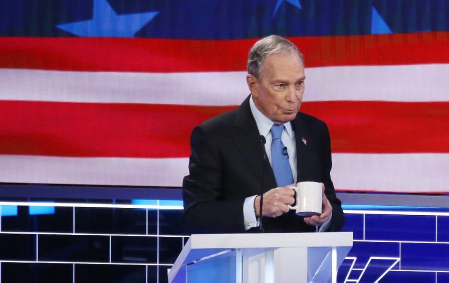 Bloomberg on break during Las Vegas Debate