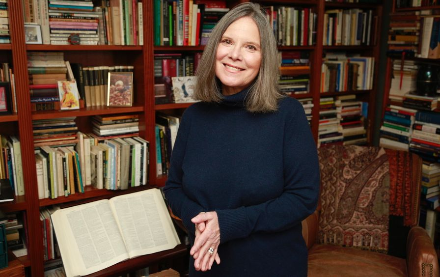 carolyn in her study PHOTO BY Harry Mattison