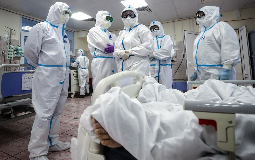 Health care providers in PPE