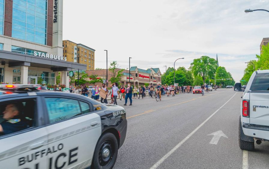 Buffalo protest