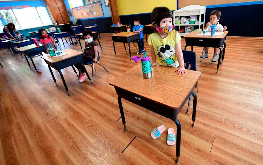 Child in classroom