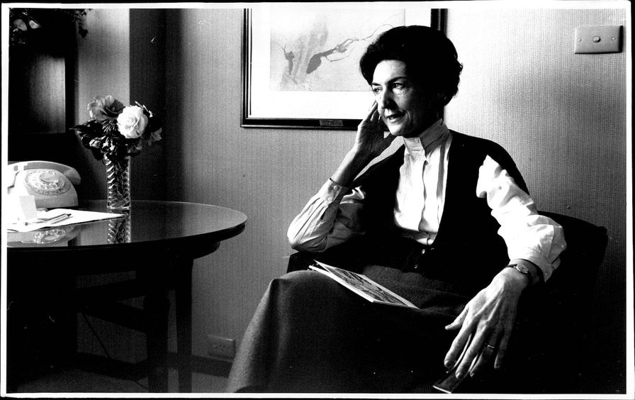 Portraits of Australian author, Shirley Hazzard pictured at the Sebel Town House.Shirley Hazzard's hotel room overlooks a watery slice of Sydney, the city in which she spent her girlhood, but which she has not seen for eight years.Her last visit was in 19