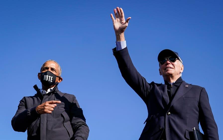 Obama campaigns for Biden