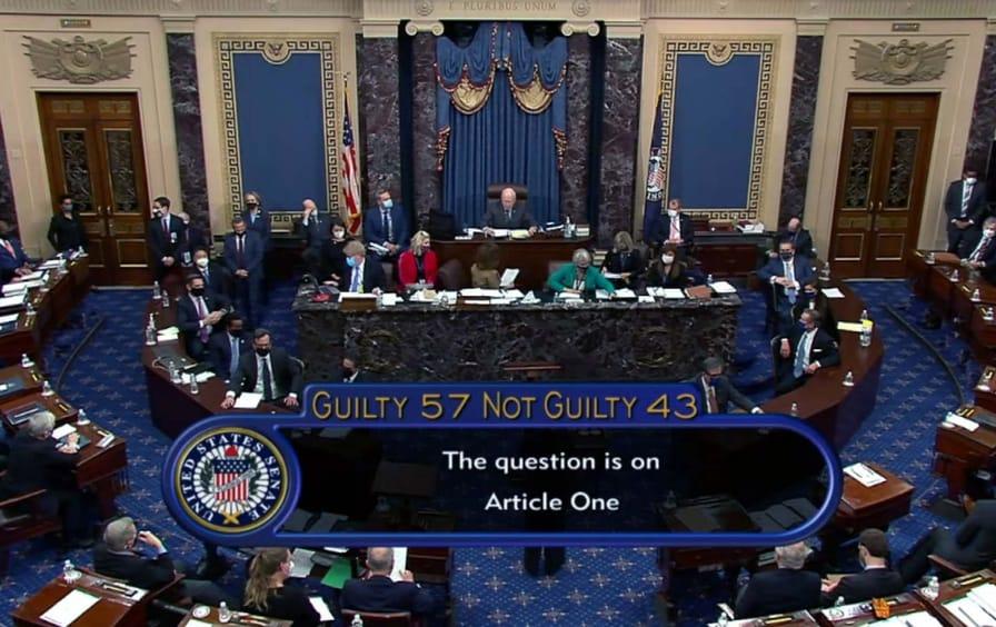 senate-second-impeachment-trump-vote-gty