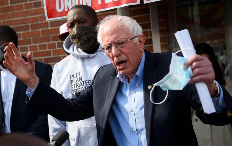 "Senator Bernie Sanders and Rapper Michael ""Killer Mike"" Render"