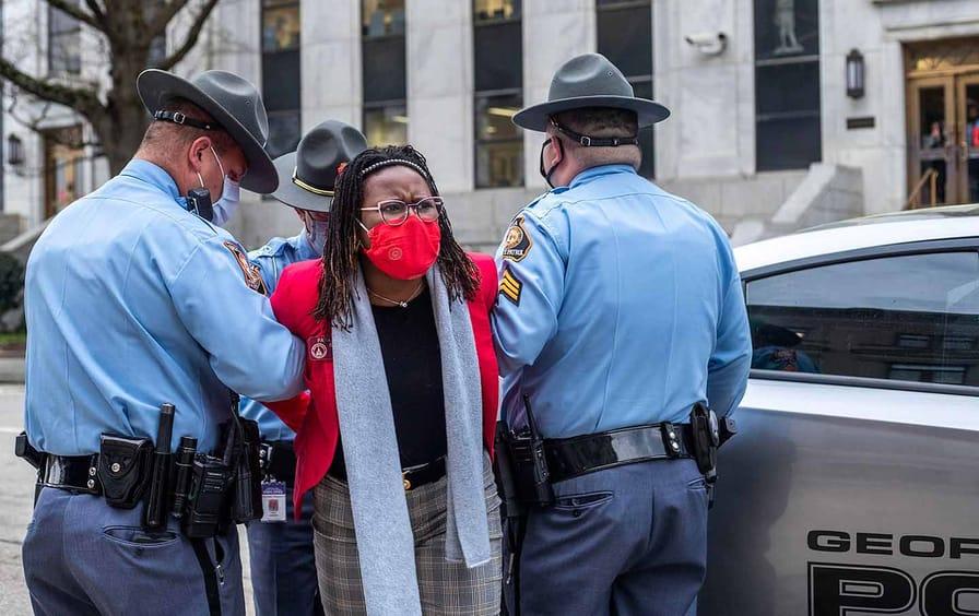 Georgia State Rep. Park Cannon under arrest