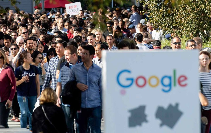A walk-out at Google in Mountain View, Calif.