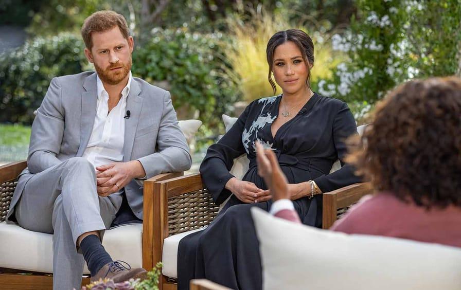 Oprah Winfrey interviews Prince Harry and Meghan Markle.