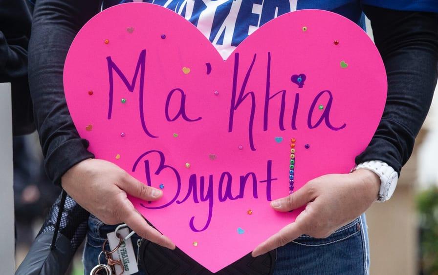 Heart sign for Ma'Khia Bryant