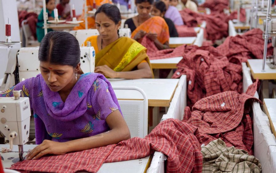 Textile workers in Bangalore