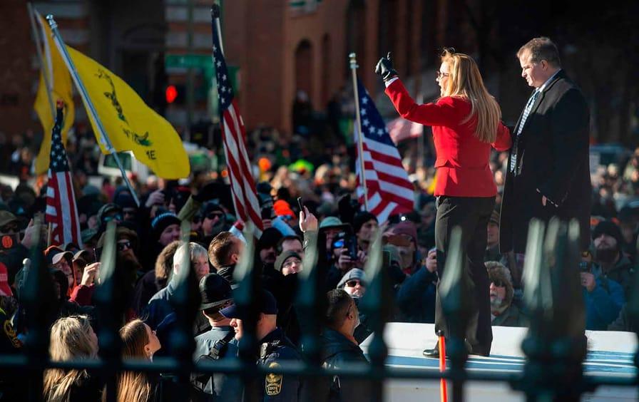 Amanda Chase at a pro-gun rally