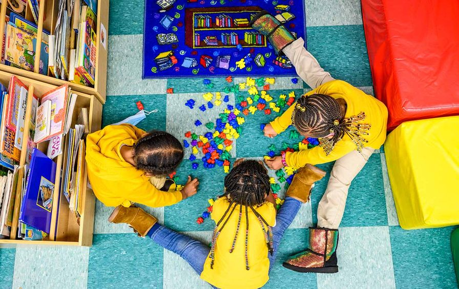 Children at Little Flowers Early Childhood and Development Center