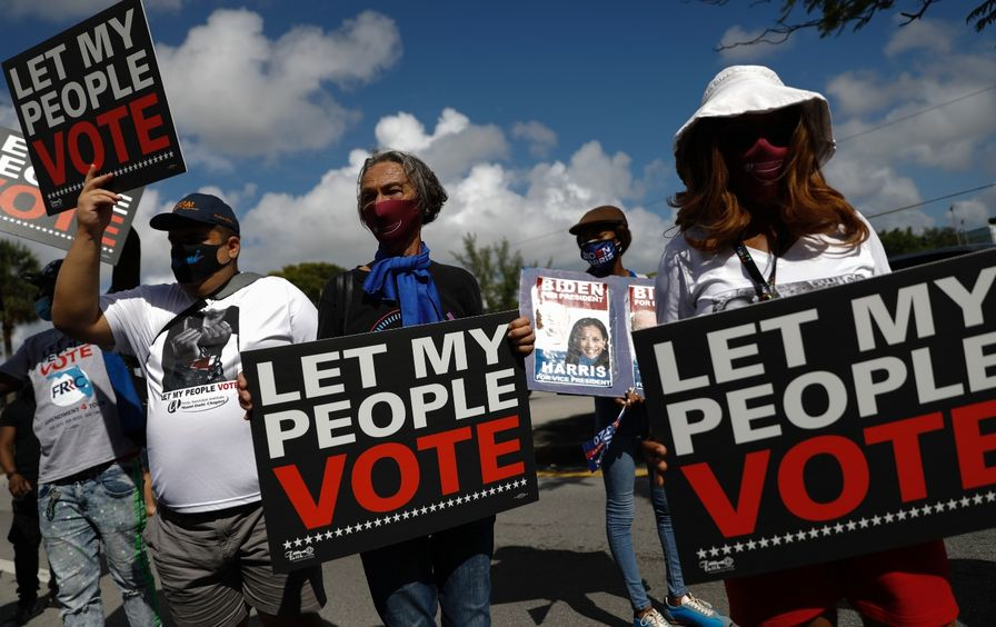 Florida voters - voting rights