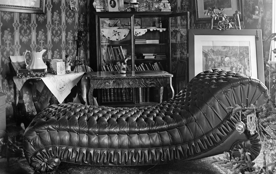 COUCH IN PARLOR