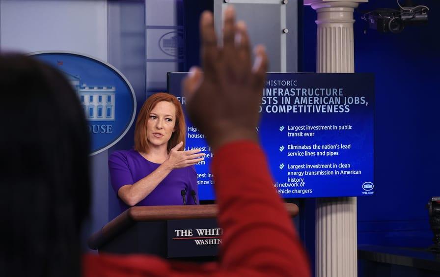 Press Secretary Psaki Briefs White House Media