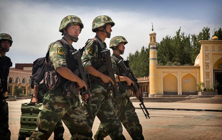 Chinese Troops Xinjiang