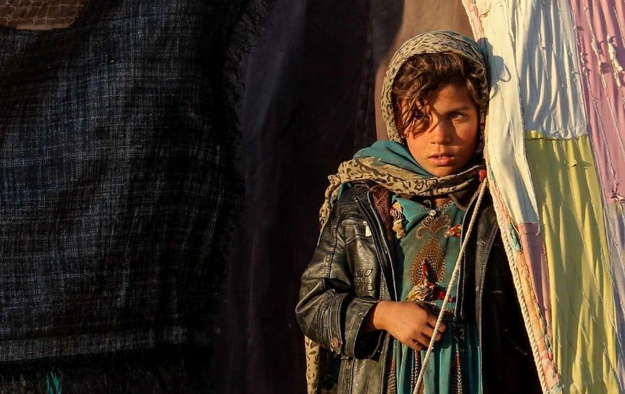 Displaced Afghan Girl