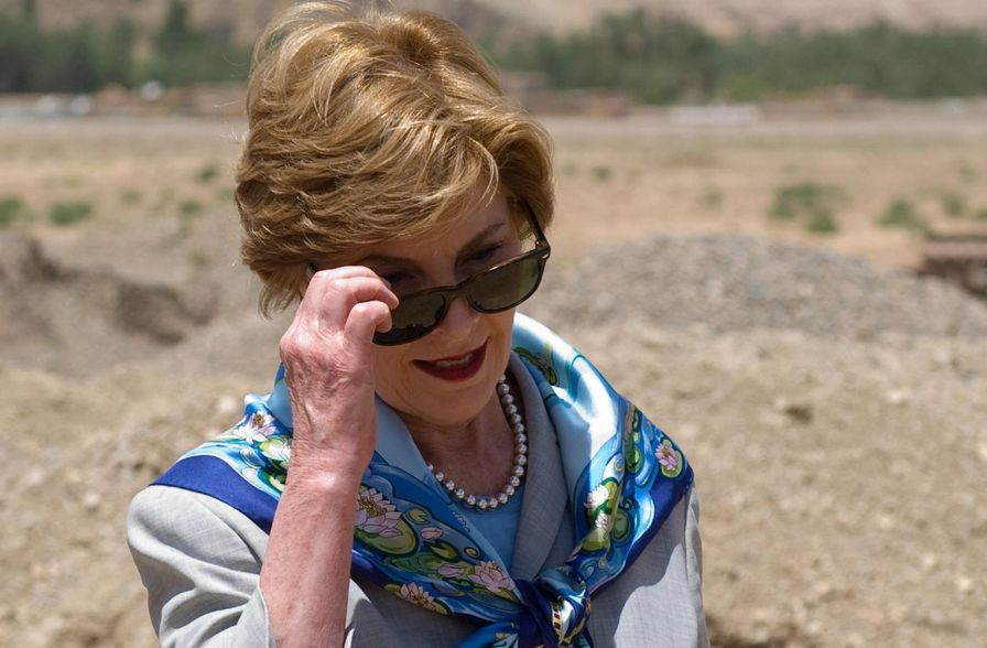 US First Lady Laura Bush visits Afghanistan