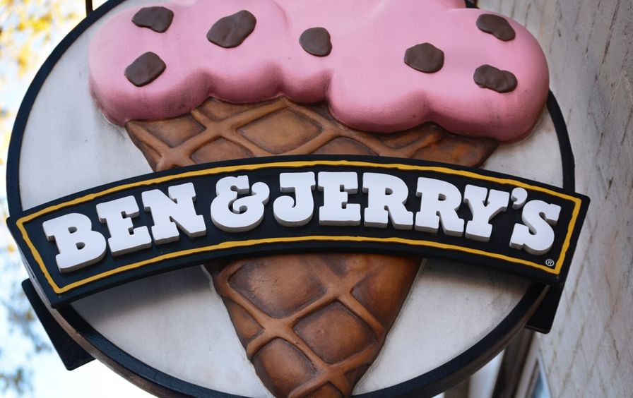 Ben and Jerry's sign