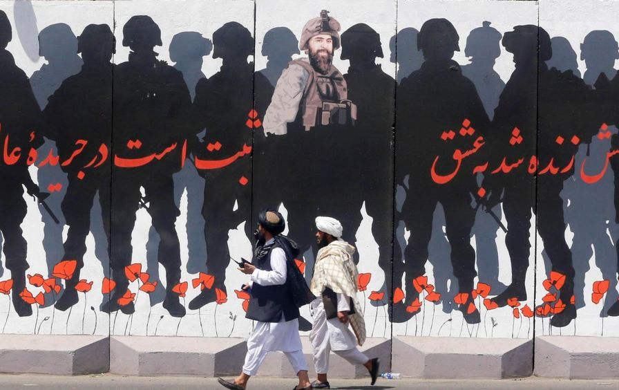 Mural in Taliban Controlled Afghanistan