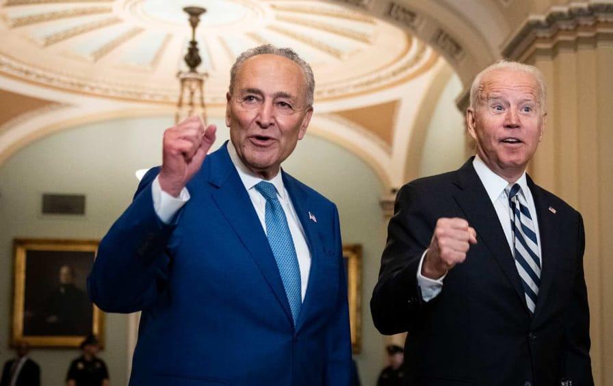 Senator Chuck Schumer and President Joe Biden