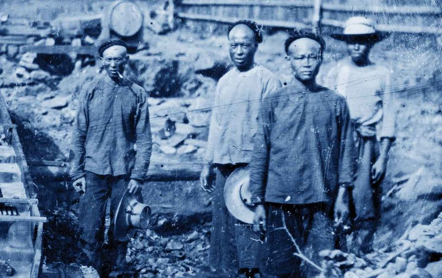 Chinese miners in California, c. 1862