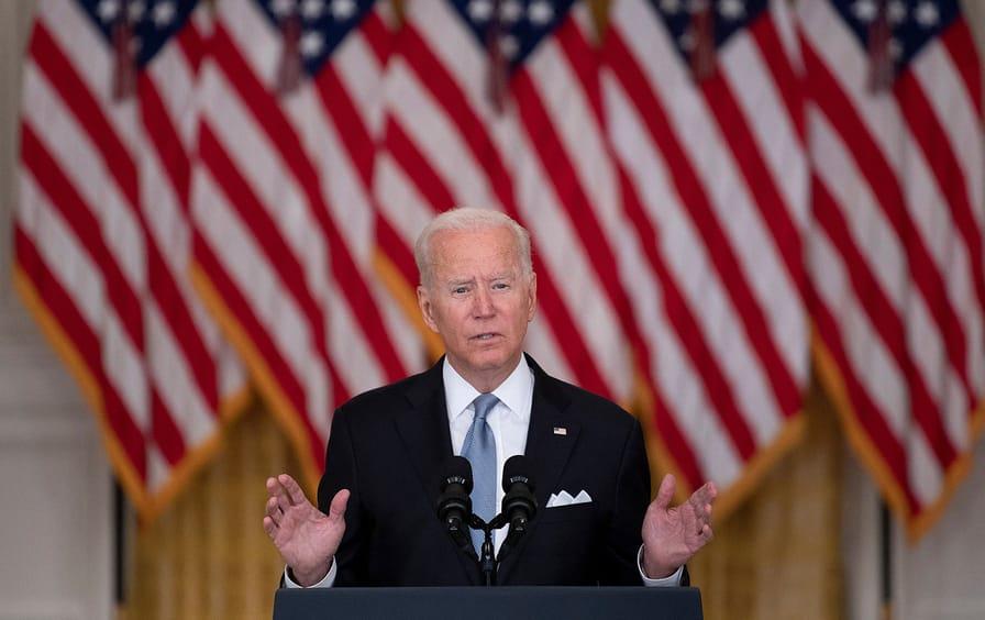 President Joe Biden addressing the nation on Afghanistan withdrawal