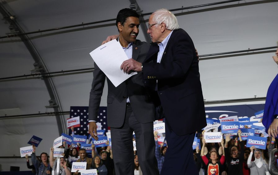 Ro Khanna and Bernie Sanders