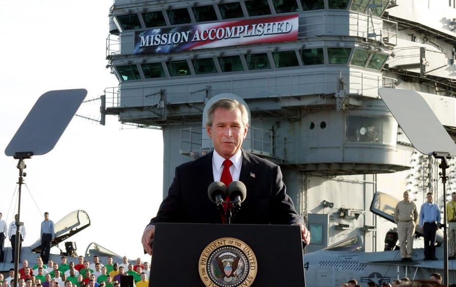 George Bush Mission Accomplished Banner