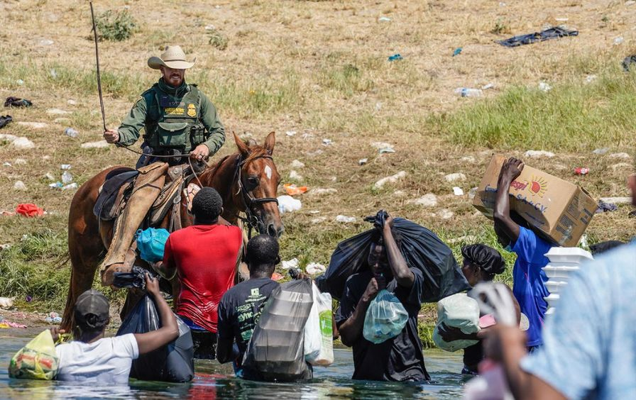 Border agents whipping Haitian migrants
