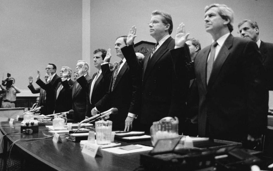 tobacco executives swearing in