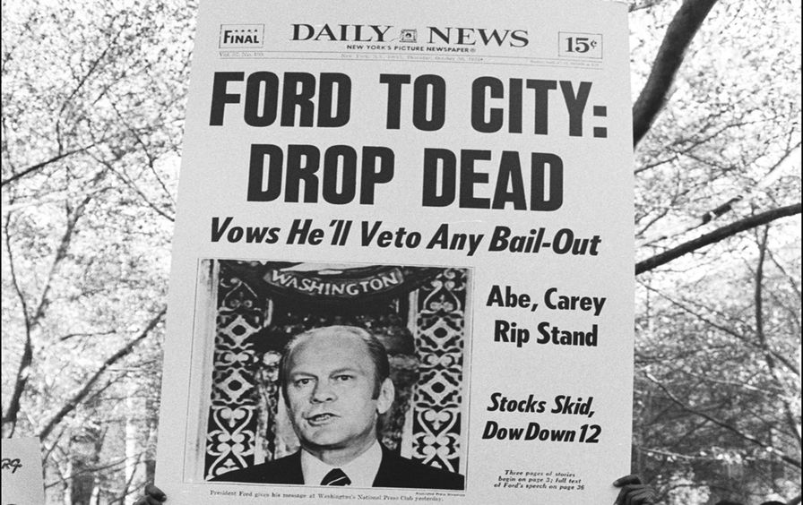 Famous Daily New Headline: 'Ford To City: Drop Dead'