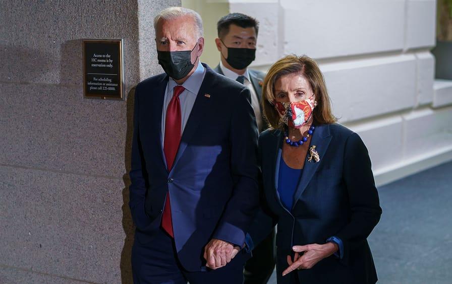 President Joe Biden and Speaker Nancy Pelosi